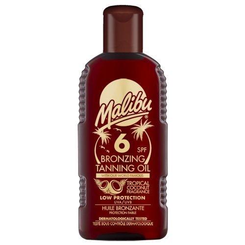 Malibu Bronzing Tanning Oil with SPF6 200 ml by Malibu