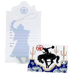 Makako - 8 cartes invitations anniversaire Western
