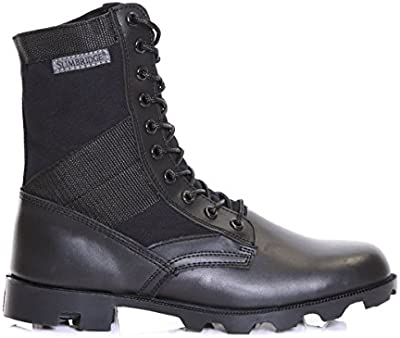 Slimbridge Force botas militares para hombre, Negro 43