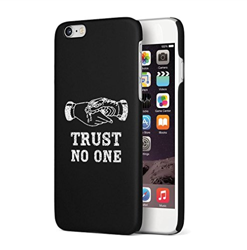 Maceste Trust No One Black Tumblr Quote Kompatibel mit iPhone 6 Plus/iPhone 6S Plus SnapOn Hard Plastic Phone Protective Fall Handyhülle Case Cover (Tattoos Iphone 6 Fall)