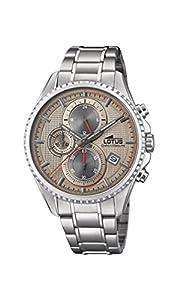 Lotus Watches Reloj Cronógrafo para Hombre de Cuarzo con Correa en Acero Inoxidable 18526/2