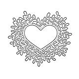 FlYHIGH Metallo Muore Cuore Cornice Metallo Taglio Muore Stencil Fai da Te Scrapbooking Album Timbro Carta Carta Goffratura Decorazioni Artigianali