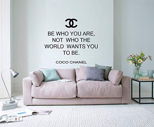 Beauty Salon Decor, Coco Chanel Quote Wall Decal, Chanel Sticker, Wall Decal Quote, Chanel Wall Decor, Chanel Home Decor, Hair Salon Decor Mural for Home Bedroom Decoration Wall Decal Room Art Gift