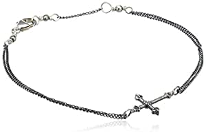 Rachel Entwistle Small Cross Sterling Silver Bracelet