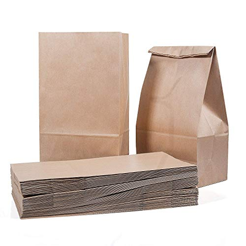 Sacchetto della spesa di 50 pezzi Sacchetti di carta marrone da pranzo 28 x 15 x 8,5 cm - 70 g./