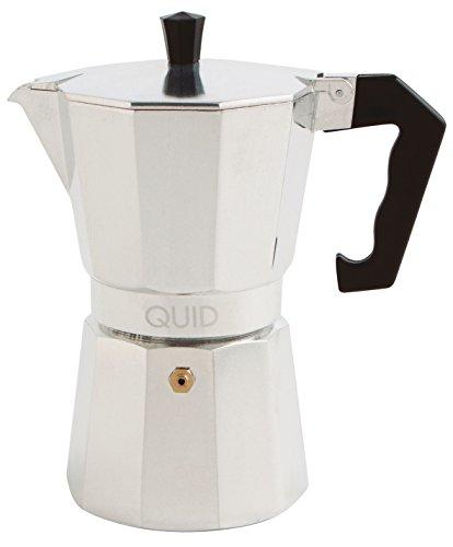 Quid Cesena - Cafetera de aluminio, 12 tazas