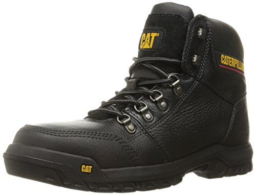 Caterpillar Men's Outline Steel Toe Work Boot, Black, 12 W US Black Steel Toe Work Boot
