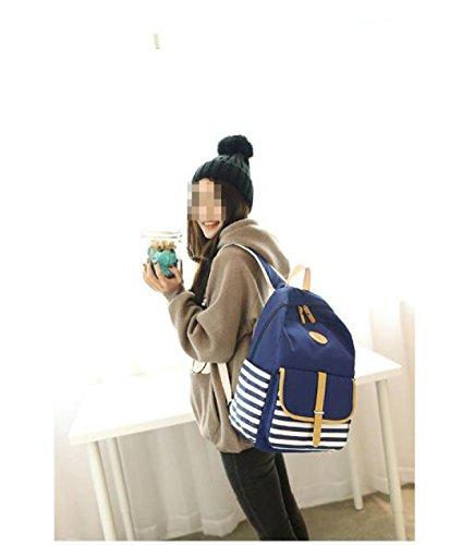 Canvas Tasche Student Rucksack Handtaschen Royalblue