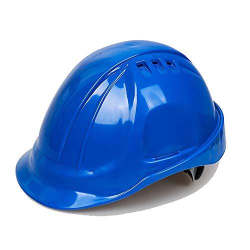 ChenCheng Schutzhelm-ABS Baustelle Projektleitung Überwachung Hochwasserschutz Anti-Schock-Fabrik Schutzhelm Sommerlüftung Outdoor Equipment (Color : Blue)