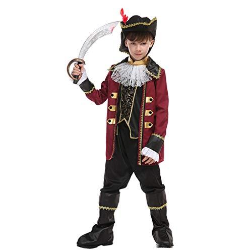 Kostüm Kreative Halloween Mädchen - Neuheit Kreativ Kind Kostüm - Halloween Junge Mädchen Pirat Kinderkostüm, ideal für Karneval, Halloween und Themen Partys usw.(Beinhaltet Nicht: Waffe),2#,Height:130~140CM