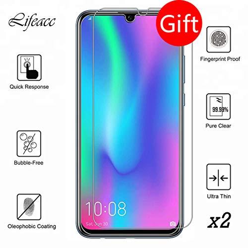 Garegce Coque Huawei P Smart 2019 +Verre trempé Protecteur écran, Ultra Fine Souple TPU Matte Silicone Bumper Case, Anti-Rayures Protection Cover pour Huawei P Smart 2019- Noir