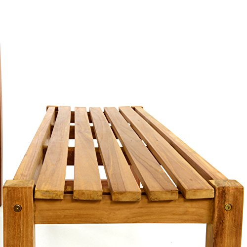 DIVERO Gartenmöbelset Picknickset Teakholz Bank Tisch Sitzgruppe Gartenset 3 teilig 1 Tisch 2 Bänke aus Teak -