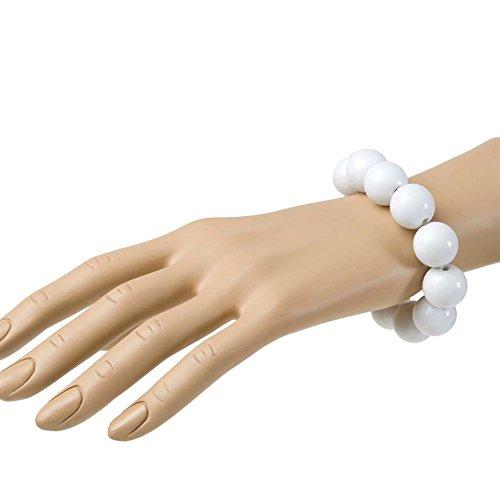 PARTY DISCOUNT Armband, 70er Jahre, Perlen, weiß