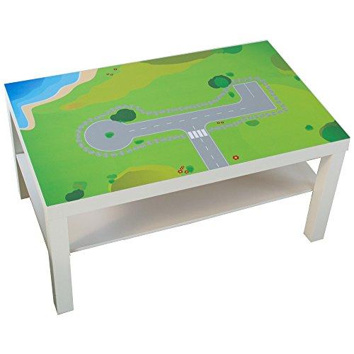 Limmaland Möbelaufkleber Spielwiese - passend für IKEA Lack Couchtisch - klein - Kinderzimmer Spieltisch - Möbel Nicht inklusive