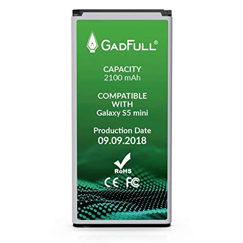 GadFull Akku kompatible mit Samsung Galaxy S5 Mini | 2018 Baujahr | Entspricht dem original EB-BG800BBE | Lithium-Ionen-Akku Kompatible mit Galaxy S5 Mini SM-G800F | Duos SM-800H