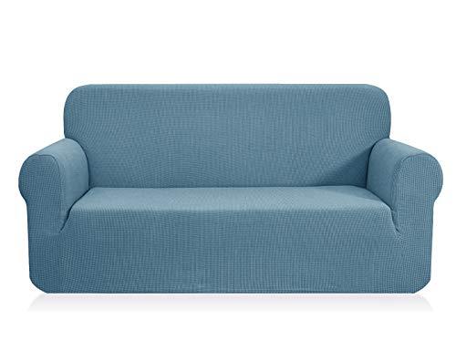 CHUN YI 1-Pezzo Elasticizzato Jacquard Copridivano Coprisofà Sofa Cover Jacquard per Casa Decorativa (Divanetto, Cielo Blu)