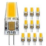 G4 LED Lampe Birne Beleuchtung- 3W/300LM, 12V Warmweiß 2700K - 30W Halogenlampen Ersatz, 360 º Abstrahlwinkel Energiespar Lampe, mit Keramic, DC/AC 12V, 10er-Pack