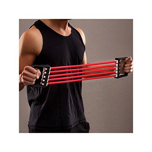 Ducomi Extensor Pectoral Adjustable 5 elastische Bänder - Widerstand, Übung (50kg)