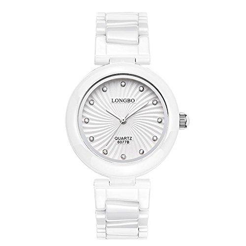 Fashion Keramik Damen-Armbanduhr Quarz wasserabweisend Damen-Armbanduhr, 4