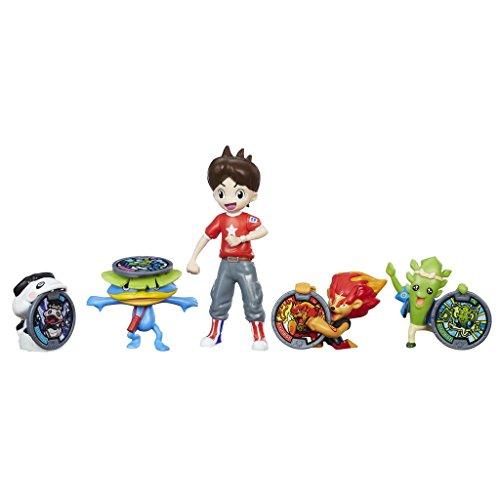 Yokai–Pack de 5Figurines Nate et les Yo-Kai + médaille exclusive de Erizlor Sans médaille d'Erizlor multicolore