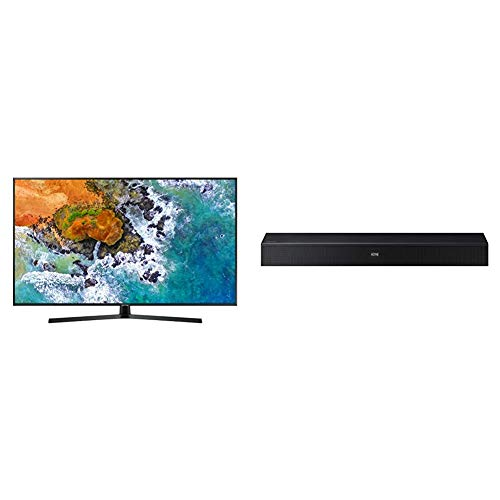 "Samsung UE50NU7400UXZT  Smart TV 4K Ultra HD 50"" Wi-Fi DVB-T2CS2, Serie 7 NU7400 [Classe di efficienza energetica A], 3840 x 2160 pixels, Nero (2018) + Soundbar HW-N400"