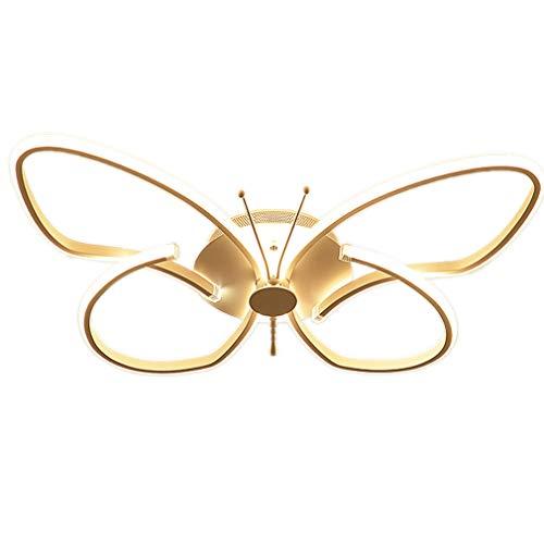 LED Deckenleuchte Kinderzimmer Deckenlampe, Fernbedienung Dimmbare Decken-Beleuchtung, Modern Mode leuchte, Schmetterlinge Kreative Design, Schön Schlafzimmer lampe, 2700 Lumen