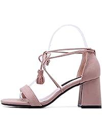Sandalias De Tacón Alto Del Bloque De Los Talones De StrappySexy Para El Vestido De Las Mujeres Zapatos Del Baile...