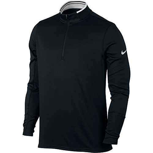 Nike Golf Dri-Fit 1/Technische 2-zip LS–Shirt langarm für Herren L Schwarz (Nike 1 2 Zip)