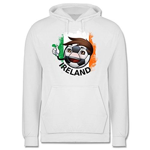 EM 2016 - Frankreich - Fußballjunge Irland - Männer Premium Kapuzenpullover / Hoodie Weiß