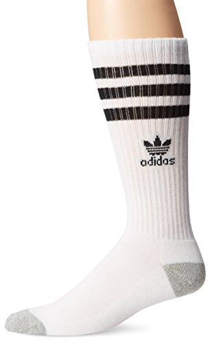 Adidas Herren Originals Crew Socken, herren, White/Black/Heather Aluminum, Einheitsgröße