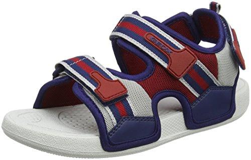 Geox j ultrak a, sandali punta aperta bambino, blu (navy/red), 30 eu