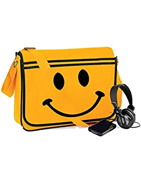 Smiley Face-Unisex-lustige Sprüche Neuheit Retro Messenger Bag-