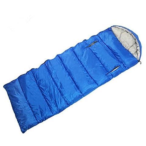 Sac Couchage D'enveloppe Avec Le Trou Main, Lit Campant Avec Le Sac Compression 8 Couleurs 5 Tailles, Pour La Randonnée En Plein Air Voyageant La Tente Voiture SUV Reste , blue , 0.8kg