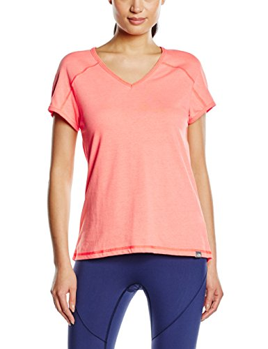THE NORTH FACE Damen T-Shirt W Dayspring S/S Tee Radiant orange Stripe, M - The North Face V-ausschnitt-shirt