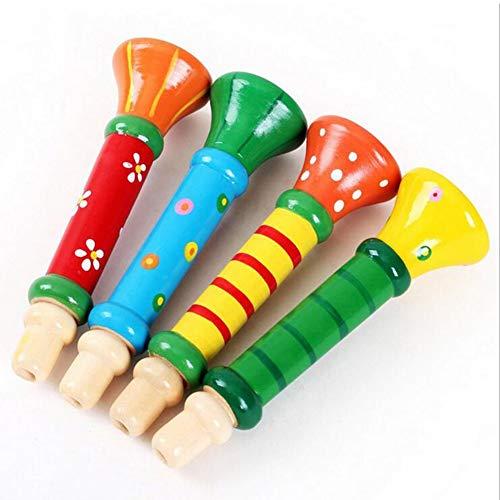 Ogquaton Premium-Trompete Baby Musikinstrument Spielzeug Musikspielzeug Säuglingsmusikinstrument Holztrompete Lernspielzeug Vorschulerziehung Kinder Kindergarten frühe Entwicklung Geschenk Geburtsta