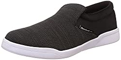 Reebok Classics Mens Court Slip On Gravel, Flat Grey and White Loafers and Moccasins - 9 UK/India (43 EU)(10 US)