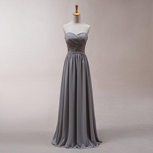 Bridal_Mall - Robe - Trapèze - Sans Manche - Femme Bleu - Cyan