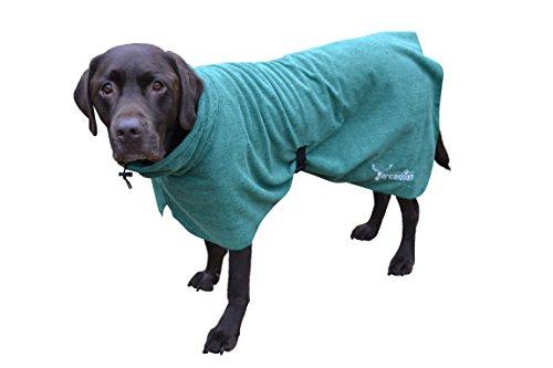 Mikrofaser Hunde Bademantel von Premium Qualität von Arcadian. Diese luxuriösen Bademäntel sind leicht, schnell trocknend und super saugfähig. Einfach zu verwenden, komfortabel und mit verstellbaren Trägern. Fantastisch, wenn zusammen mit einem Mikrofaser Hundehandtuch von Arcadian verwendet. 100% Zufriedenheitsgarantie! (L, Grün)