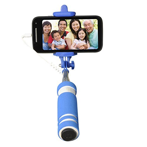 Gaffar Mobile Foldable Mini Monopod Pocket Selfie Stick for Iphones, Samsung, Panasonic P81, Lenovo A7000, Moto G 2nd Generations.  available at amazon for Rs.120