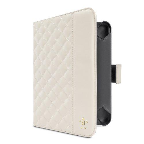 Belkin Quilted Verve Tab Folio (Standfunktion,magnetverschluss, geeignet für Apple iPad mini) weiß -