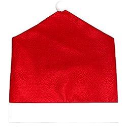 Eizur 1 Pezzo Natale Cappello di Babbo Stile Sedia Coperture Posteriori Rosso Copri Sedie Indietro Imposta Decorazioni Natalizie per Sala da Pranzo Casa Party Composizione Della Famiglia