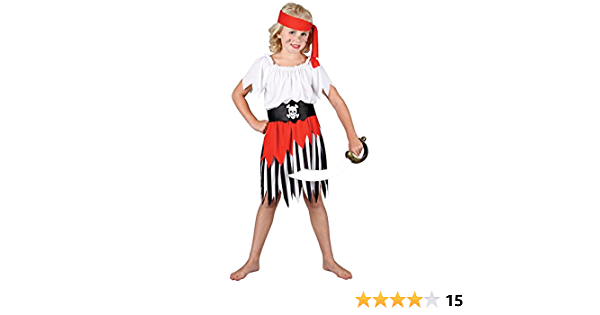PIRATE GIRL FANCY DRESS COSTUME CHILDS GIRLS MAIDEN OUTFIT KIDS NEW SEA XY