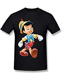 YungGoo Men's Cartoon Pinocchio T Shirt US Size L Black
