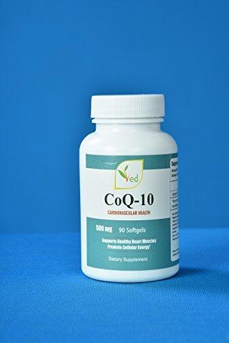 CoQ 10, Co Enzym Q10 500mg 90 Kapseln (Softgels) GMP Garantierte Qualität