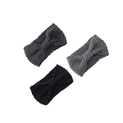 AIni Damen-Haar-Ball-strickendes Stirnband-elastischer Handgemachter Bogen Verdrehtes Design HairBand Headband