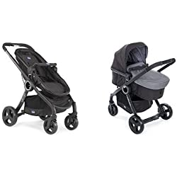 Chicco Urban plus -Carrito transformable en capazo y silla de paseo, color gris