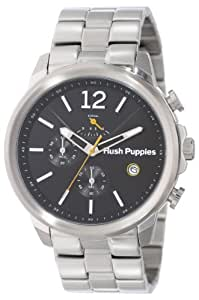 Hush Puppies Orbz Men's Automatic Watch with Black Dial Analogue Display and Silver Stainless Steel Bracelet HP.6065M.1.1502