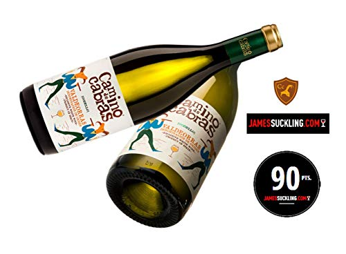 CAMINO DE CABRAS vino blanco Godello D.O.Valdeorras, pack 2 botellas de vino, total 1500 ml.