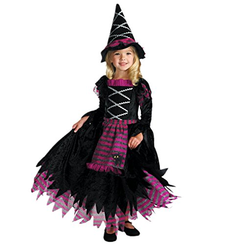 xiemushop Disfraz de Bruja para Ninas Infantil Disfraces de Halloween Cosplay Carnaval 110-130cm
