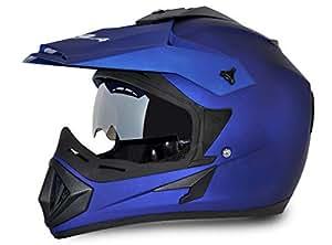 Vega Off Road Full Face Helmet (Dull Blue, S)
